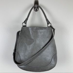 Frye | Melissa Hobo Grey Leather Bag